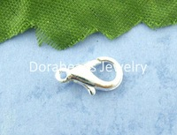Free Shipping! 100PCs Silver Plated lobster Parrot Clasps 12*6mm (B00841)
