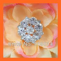 Free Shipping!100pcs 26mm Crystal Rhinestone Cluster,Wedding  Embellishment ,Rhinestone Brooch