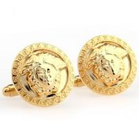 metal knot cufflinks Gold Circle Business Men's Cufflinks