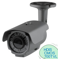 "Weatherproof IR Camera Color 1/3"" HDIS CMOS 700TVL"