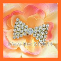 Free Shipping!100pcs 25*36mm Crystal Rhinestone Cluster,Wedding  Embellishment ,Rhinestone Brooch