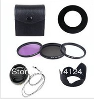 Lens cap +Lens Hood+52mm UV CPL FLD Filter Set for Nikon D600 D3200 D3100 D3000 D7000 D5100 D80 D300S DSLR Camera