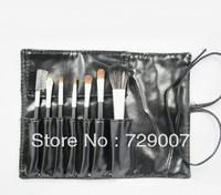 The wholesale price 7 Makeup Brush Set Eyeshadow Blush Lip Gloss Pen Case 5pcs
