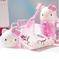 hello kitty cartoon travel kit toiletries portable three-piece cup + toothbrush + towels Suitable for children