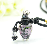 2014 new arrival art glass blown necklace aroma therapy bottle pendant jewelry