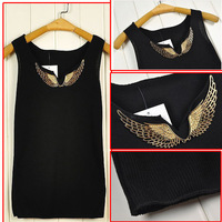 Eagle Wing Inspired Tank Top Tshirt for Woman/Girls/Ladies New in 2014 Spring Summer Sleeveless Tops parte superior  FZ-023
