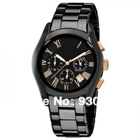 Free shipping high quality, Quartz Chronograph Ceramic watches for men Original box +Certificate AR1410
