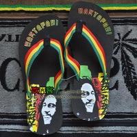 Reggae reggae bob marley hiphop punk skateboard slippers flip flops shoes