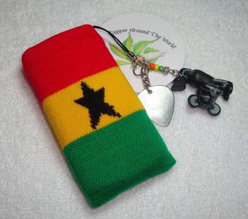 Rasta reggae mobile phone bag nano4 ankle sock