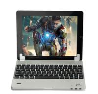 For iPad 2 3 4 Ultra Thin Aluminum Bluetooth Keyboard Holder Case Power Bank