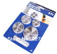 "hight quality 6pc HSS Saw Blades For Metal & For Dremel Rotary tools (7/8"" 1"" 1-1/4"" 1-1/2"" 1-3/4"" 1/8"")"