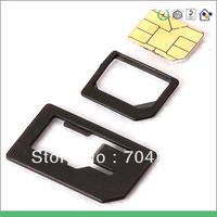 1000pcs/lot hollow out ABS material nano sim card adapter for iphone 5 sim adaptor