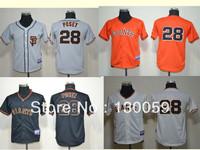 Free Shipping 2013 Cheap Kids Baseball Jerseys San Francisco Giants # 25 Posey Youth Jersey ,Embroidery Logos