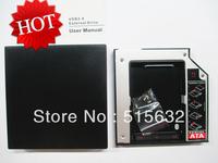 New USB 2.0 Slim External Case Enclosure for 12.7mm Sata Cd DVD Rw Burner Drive + 12.7mm HDD Hard Drive Optical Bay Caddy