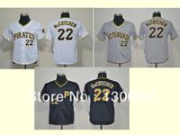 Free Shipping 2013 Cheap Kids Baseball Jerseys Pittsburgh Pirates #22 Andrew McCutchen Youth Jersey ,Embroidery Logos
