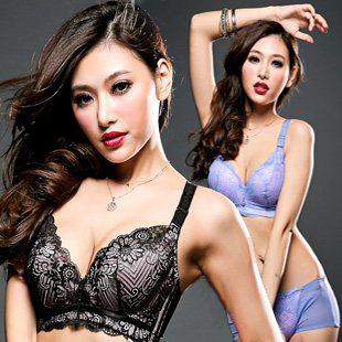 Vintage water bag plus size lace push up brassiere bra and panty sets underwear set 34c 34d 36c 36d 38c 38d 40c 40d bras women