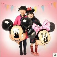 free shipping  aluminum balloons Valentine Queen Minnie Mickey head head cartoon balloons