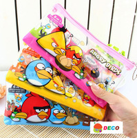 Cute stationery sets, Pen bag + pencil + Sharpener+ Ruler+Eraser+ sticker, Kids' gift(SS-1527)