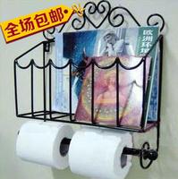 Free Shipping Wrought Iron Towel Rack Toilet Paper Holder Roll holder  Tissue Box Toilet Paper Rack