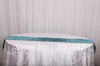 free shipping teal satin table runner