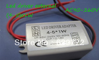 Free shipping 20pcs/lot (4-5)x1W led driver adapter outside led lighting transformer for 4W/5W led downlight constant current