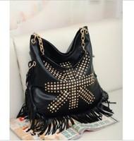 woman bags Retro Rivet Fringe Tassel handbag new arrival fashion shoulder bag 6531