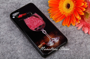 High Quality New Swarovski Crystal Rhinestones Case for iPhone 4 4S, Diamond Elegant Wine Cup Case Cover for iPhone 5, 4 Colors