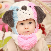 Winter Baby Earflap Caps Scarf Set Kids Pocket Hats Child Muffler Boy & Girl Beanies Ear Protector Hat For Baby 5-36 months
