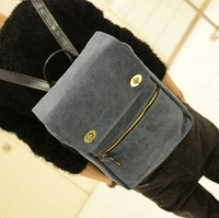 Fashion trend vintage canvas backpack man bag middle school students school bag laptop bag casual handbag women's