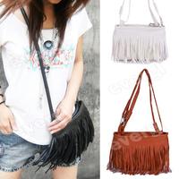 Hot Fringe Tassel Shoulder Messenger Bag Hand Style Women Lady Satchel Free Shipping