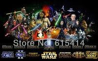 "15 Star Wars Episode I II III IV V VI classic movie 22""x14"" Inch Wallpapr Sticker Poster"