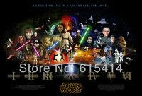 "27 Star Wars Episode I II III IV V VI classic movie 35""x24"" Inch Wallpapr Sticker Poster"