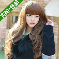 Wig non-mainstream long curly hair fluffy bag high temperature wire qi bangs female short repair