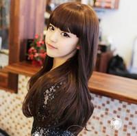 Wig long curly hair fluffy repair high temperature silk girls white forever bag