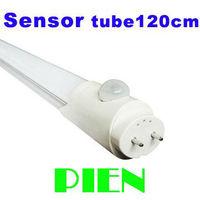 T8 sensor led tube 1200mm 1.2m 4ft 18W T8 G13 human motion induction lighting 110V-240V by DHL 10pcs/lot