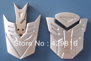New arrival Silver transformer head model usb memory flash stick pen thumb drive