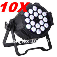 10pcs free shipping to usa 18x12wx5in1 RGBWA indoor use mini par powerful par can 11CH dmx effect light double hand par light