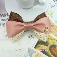 School Uniform Accessories handmade Pink Butterfly bow hair clip headband hair accessory brooch
