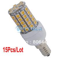 Wholesale 15Pcs/Lot E14 SMD5050 59 LED Corn Light Bulb Lamp Warm White SMD5050 200V-240V/5.4W 14665