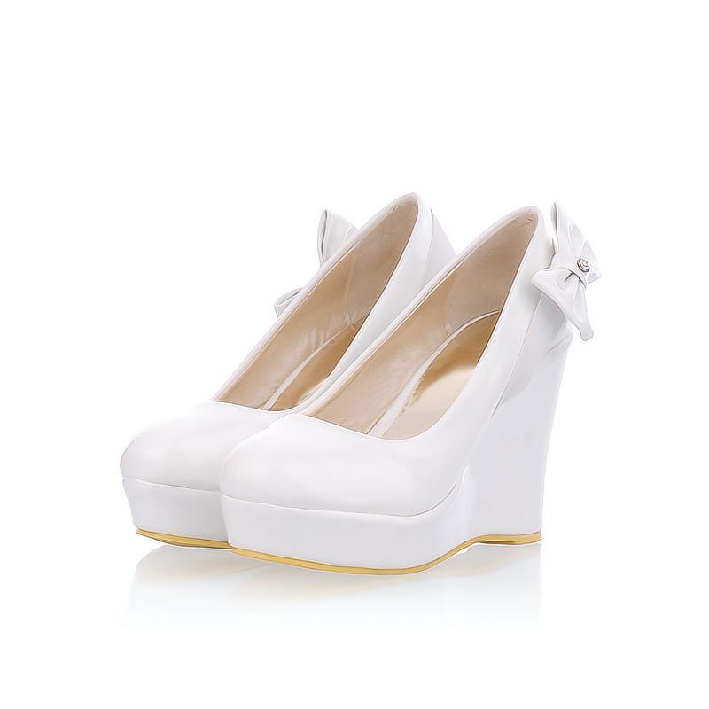 Ivory Wedge Wedding Shoes Online Shopping The World Largest Ivory