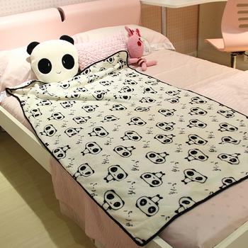 Giant panda dual purpose wool blanket pillow child air conditioning blanket cushion air conditioning vehienlar nap blanket