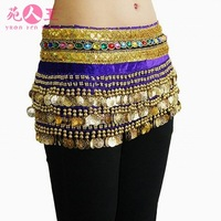 Latin dance belly dance belt cummerbund tassel belly chain paillette lengthen trigonometric
