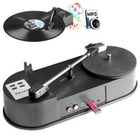 NEWEST!! EC008B, USB Mini Phonograph/ Vinyl Turntables Audio Player, Support Turntable Convert LP Record to CD or MP3 Function