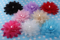 EMS Free Shipping 100pcs Fashion Artifical Silk Hair Accessories 2013 Girls Handmade Hair Ornaments Chic Shabby Headband Flowers