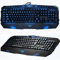 New Backlit LED Illuminated USB Ergonomic Gaming Multimedia Keyboard Day Pearl