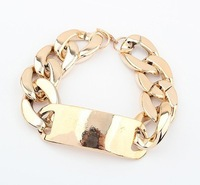 Free shipping Europe exaggerated thick metal chain bracelet
