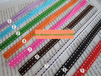 Free shipping 10mm 1cm grosgrain ribbons,stitched ribbons,4 color mixed wholesale,per color 25yards,total 100yard