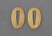 Nice Brass Seppas for Japanese Samurai Sword Katana Wakizashi 2 Pieces QYP02