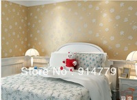 High quality European sitting room wall of setting of the head of a bed is non-woven fabric flower wallpaper