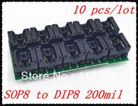 Free shipping!!!Universal Adapter Sockests SOP8 SOP 8 to DIP8 DIP 8 for Programmer TL866A TL866CS EZP2010  200 208 mil